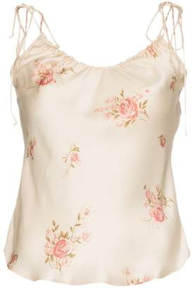 Reformation beatrice silk top