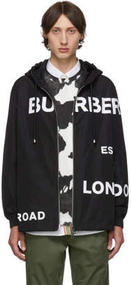 Burberry Black Horseferry Hooded Jacket