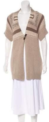 Brunello Cucinelli Wool & Cashmere-Blend Heavy Knit Cardigan
