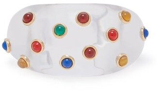 clear Wai Wai - X Betina De Luca Crystal Embellished Bangle - Womens