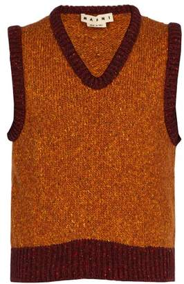 Marni - Wool Blend Knitted Vest - Mens - Yellow