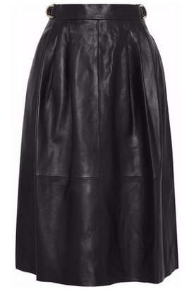 Derek Lam Pleated Leather Skirt