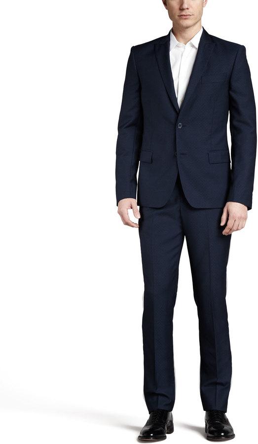 Versace Trend-Fit Suit, Navy