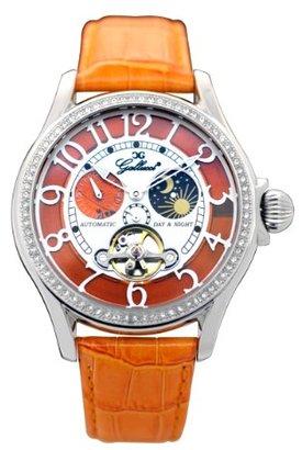 Gallucci レディースwt23408au / ssl-orファッション炎ステンレススチールWatch withオレンジBand