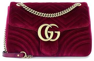 Gucci GG Marmont Medium velvet shoulder bag