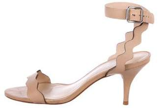 Loeffler Randall Leather Ankle-Strap Sandals