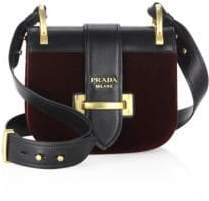 pradaPrada Pionniere Velvet & Leather Saddle Bag
