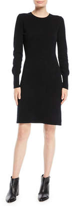 Neiman Marcus Cashmere Long-Sleeve Sweater Dress, Plus Size