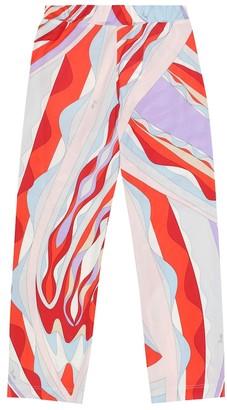 Emilio Pucci Kids Printed silk-blend crepe pants