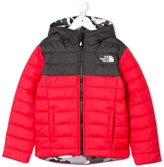 The North Face Kids colour block padded jacket
