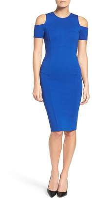 Felicity & Coco Cold Shoulder Midi Dress
