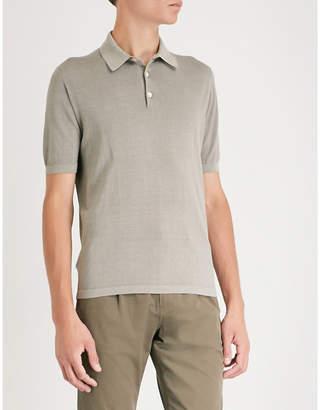 Eleventy Cotton-jersey polo shirt