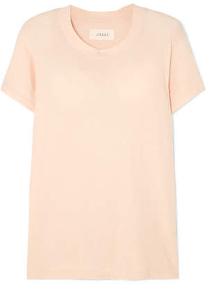 The Great The Slim Cotton-jersey T-shirt - Pink