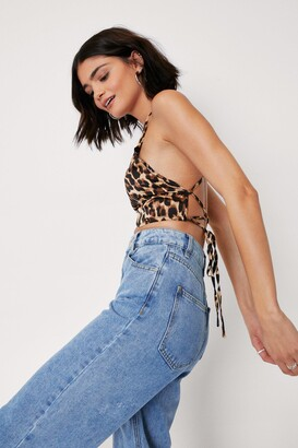 Nasty Gal Party Animal Leopard Crop Top