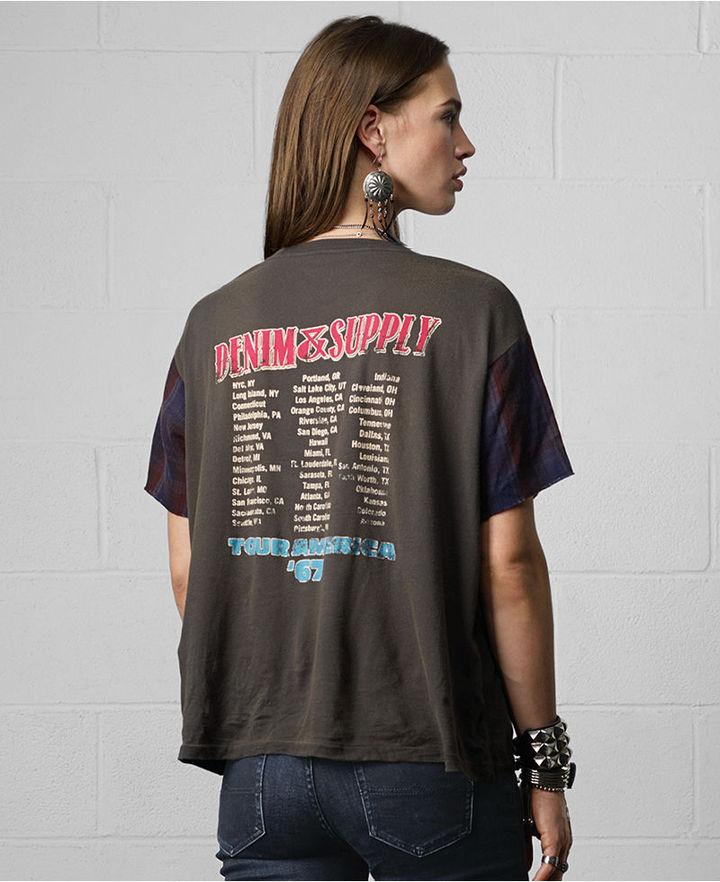 Denim & Supply Ralph Lauren Top, Short-Sleeve Graphic Colorblocked