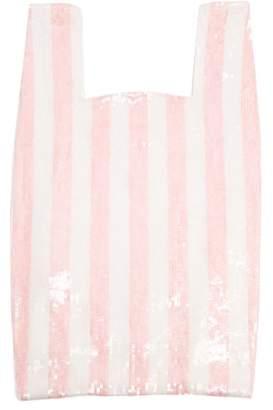 Ashish Striped sequin-embellished cotton bag