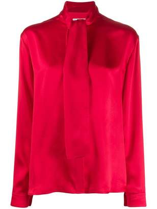 Balenciaga Oversized Tie Neck Silk Top