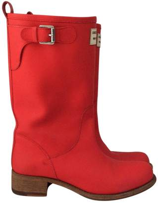 DSQUARED2 Red Leather Boots