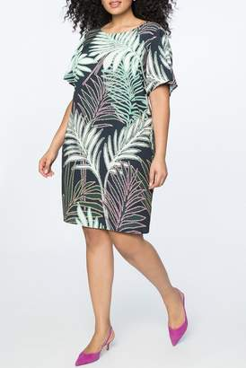 ELOQUII Flutter Sleeve Easy Tee Dress (Plus Size)