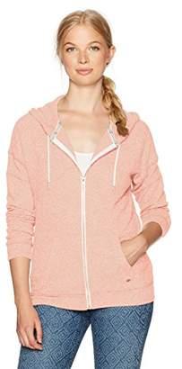 Volcom Women's Lil Zip up Hooded Fleece Sweatshirt