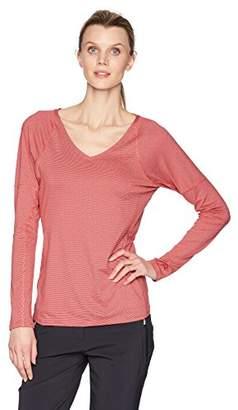 Cutter & Buck Women's Stretch Tonal Stripe Jersey Victory V-Neck Long Sleeve Shirt