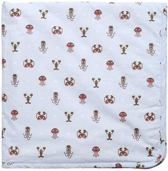 Fendi Printed Cotton Poplin & Jersey Blanket