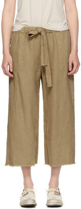 Raquel Allegra Brown Cropped Pyjama Trousers