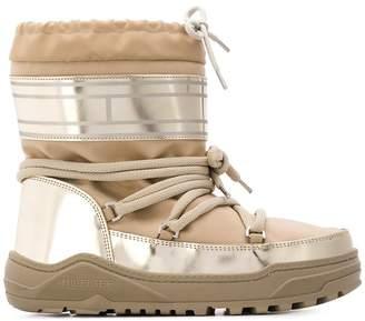 Tommy Hilfiger PVC trim snow boots