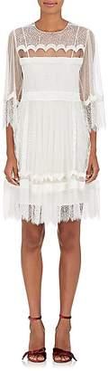 Alberta Ferretti Women's Lace & Velvet A-Line Dress