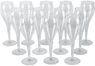 One Kings Lane Vintage Crystal Champagne Flutes - Set of 12 - La Maison Supreme