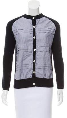Tory Burch Pleated Button-Up Cardigan
