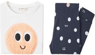 MANGO Girls Embossed Design Long Pyjamas
