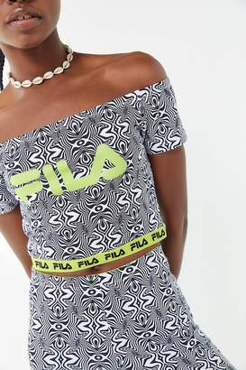 Fila UO Exclusive Shirley Off-The-Shoulder Cropped Top