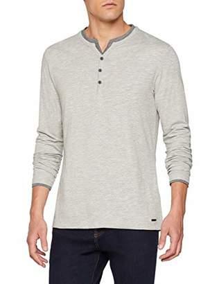 Esprit Men's 098ee2k025 Long Sleeve Top, Grey ( Grey 035)
