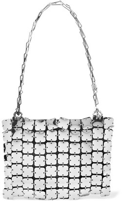 Paco Rabanne Square 1969 Chainmail And Leather Shoulder Bag - Silver
