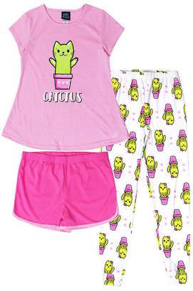 JELLIFISH KIDS Jelli Fish Kids Catctus 3pc. Pant Pajama Set - Girls