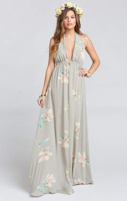 Show Me Your Mumu Luna Halter Dress ~ Lily Showers