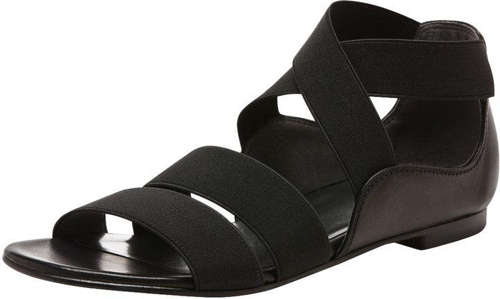 Stuart Weitzman Elastic Flat Sandal