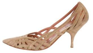 Alaia Suede Pointed-Toe Pumps
