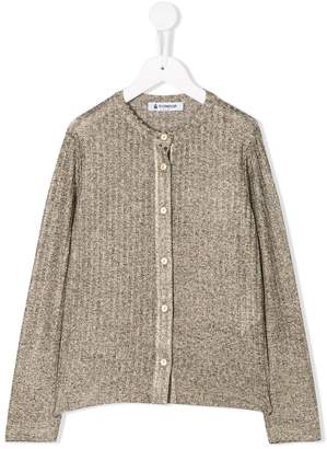 Dondup Kids ribbed fitted cardigan