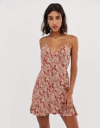 Free People All My Love floral print wrap dress