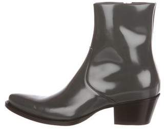Calvin Klein Spazzolato Leather Ankle Boots
