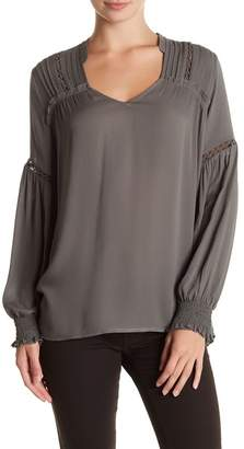 Pleione Long Sleeve Hi-Lo Blouse $62 thestylecure.com