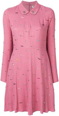 Sonia Rykiel Sonia By safety pin detail dress