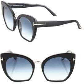 Tom Ford Samantha 55MM Cropped Cat Eye Sunglasses