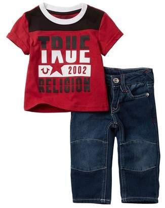 True Religion 02 Tee & Jeans Set (Baby Boys)