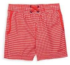 Little Boy's & Boy's Gingham Swim Shorts