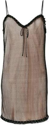 Miu Miu layered mesh cami dress