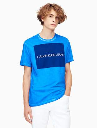 Calvin Klein big + tall slim fit block logo t-shirt