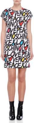 Love Moschino Printed Tee Dress